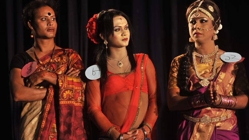 Hijra celebrate with a beauty talent show during the evening. Image by Mohammad Asad. Copyright Demotix (10/11/2014)
