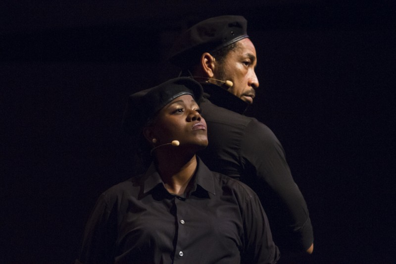 Germaine Wilson and Wendell Manwarren in the role of the Corporals. Photo by Maria Nunes, used with permission.