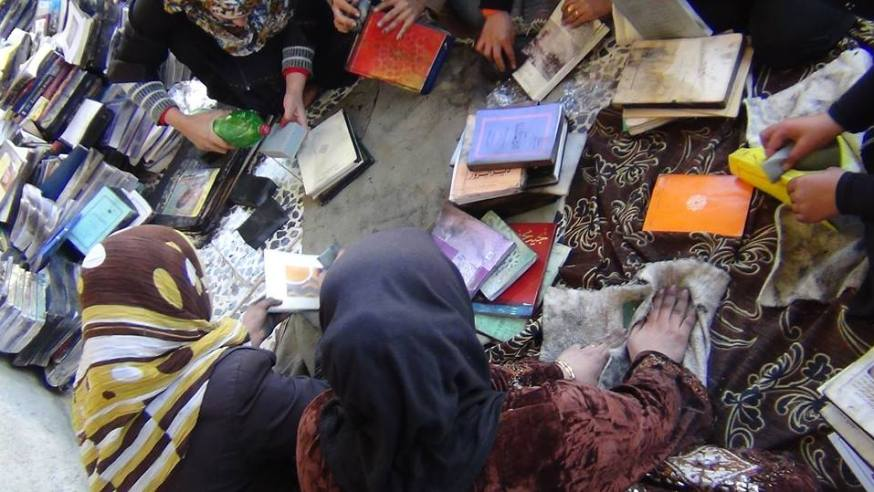 Women working at the Mazaya Center in Kafranbel, Syria. Source: The Mazaya Center.