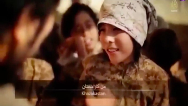 Kazakh child soldiers in an ISIS training camp. Widely shared on Youtube.