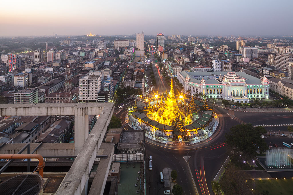 Aerial view of Yangon.  Photo by Manuel Oka for Yangon Architectural Guide (DOM Publishers, 2015)