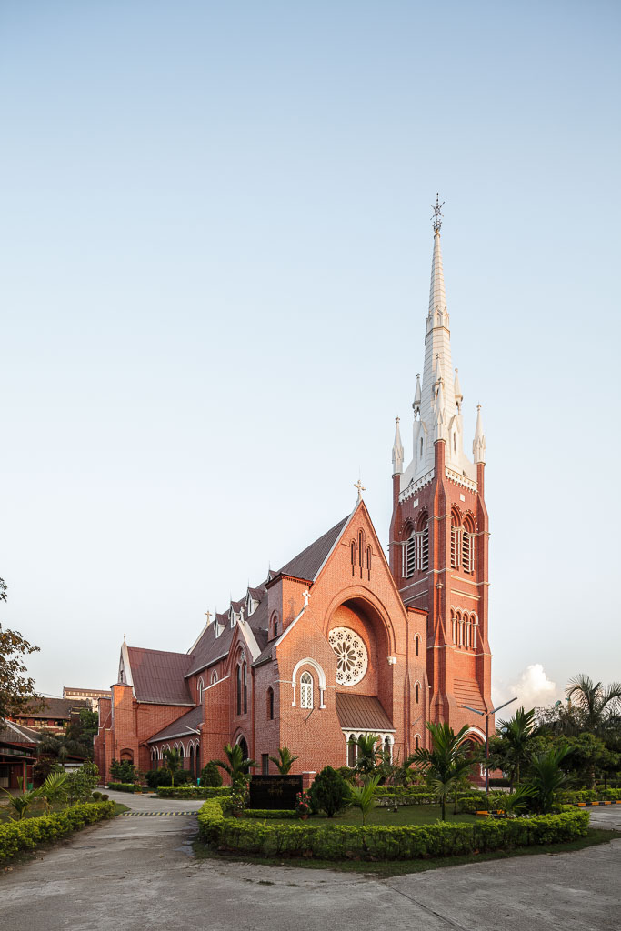 """""""The Holy Trinity Cathedral is the main Anglican church in Yangon.""""  Photo by Manuel Oka for Yangon Architectural Guide (DOM Publishers, 2015)"""