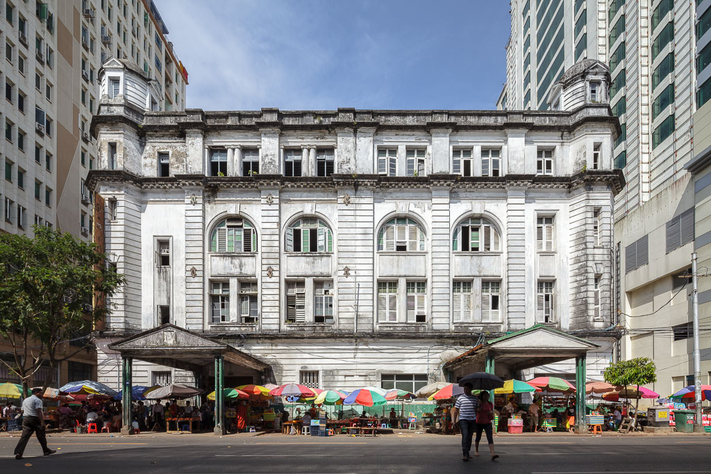 The former headquarters of Burmah Oil.  Photo by Manuel Oka for Yangon Architectural Guide (DOM Publishers, 2015)
