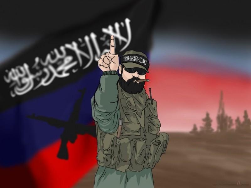 "Image from the Vkontakte community ""Islamic State of Donbass and Lugant."""