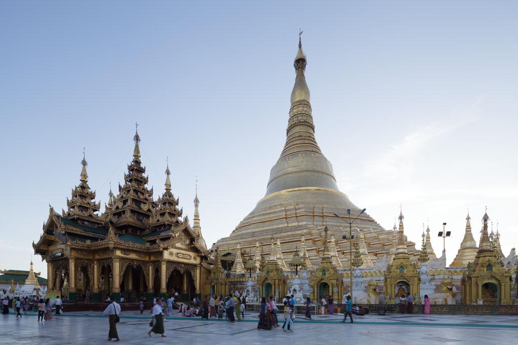 Yangon's most famous landmark, Shwedagon Pagoda. Photo by Manuel Oka for Yangon Architectural Guide (DOM Publishers, 2015)