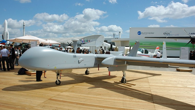 HARFANG Drone in France via Calips on wikipmedia commons - CC-BY-3.0