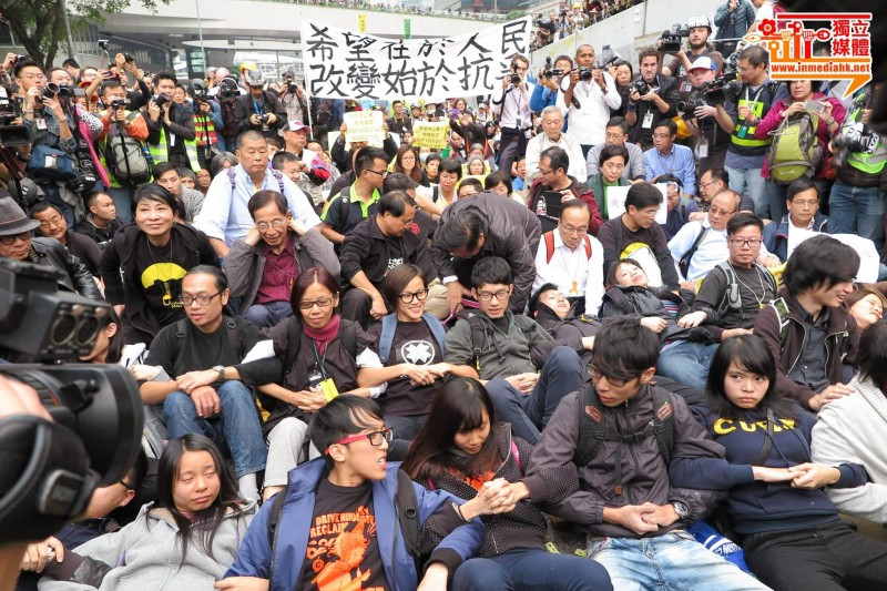 More than 200 pro-democracy protesters were arrested during the police clearance at Admiralty on December 11. Photo from inmediahk.net