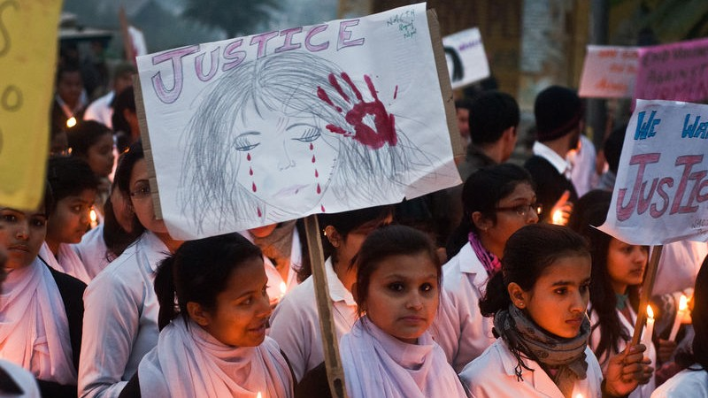 The students of National Medical College at Birgunj (Nepal) participating in a candlelight rally showing their solidarity in the on going agitation against the gang rape in Birgunj, Nepal & New Delhi, India. Image by Manish PAudel. Copyright Demotix (24/12/2012)