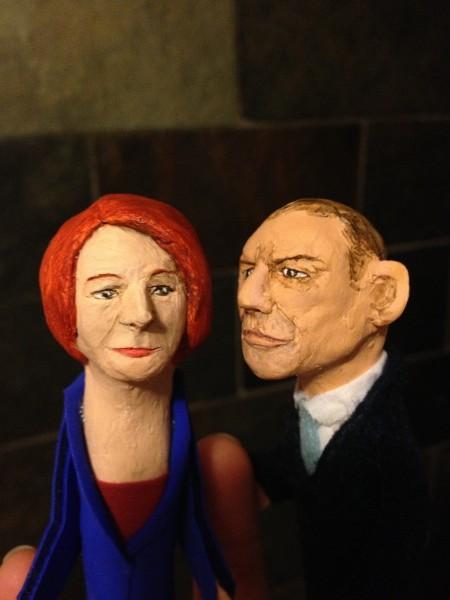 Finger puppets - Gillard & Abbott