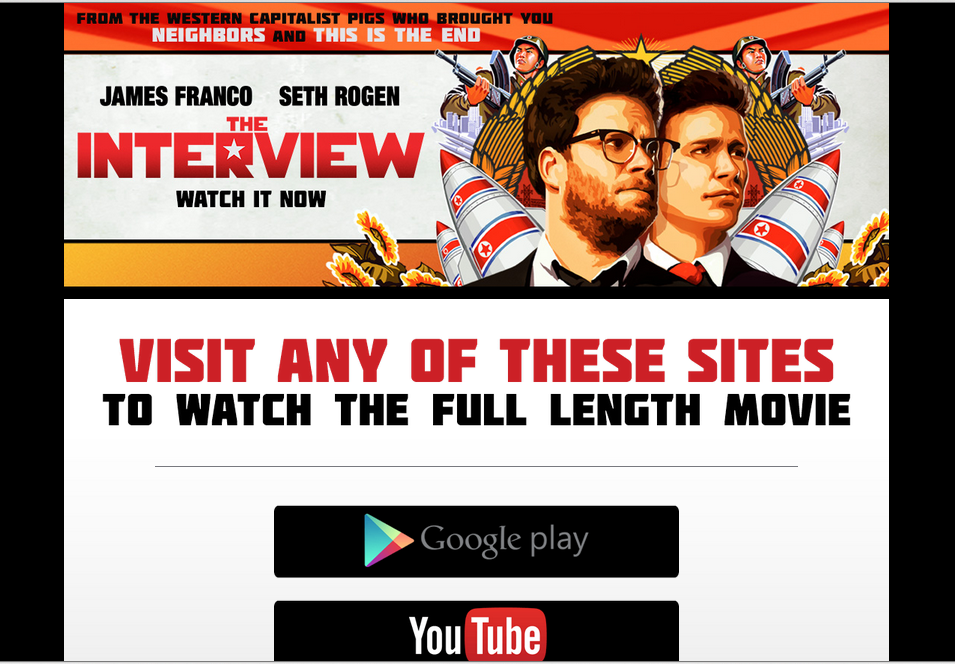 Screenshot from http://www.theinterview-movie.com/