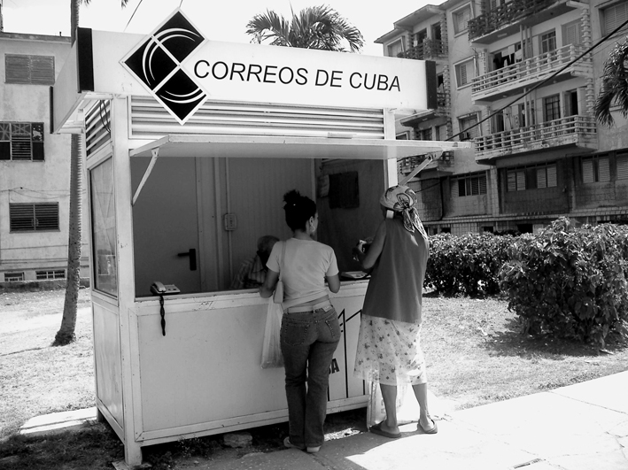 Correos de Cuba, Cuban postal service kiosk. Photo by Victor Manuel via Flickr (CC BY 2.0)