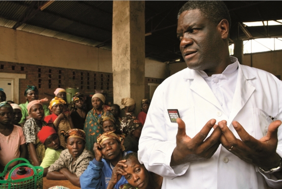 Doctor Mukwege at the Panzi hopsital in DR of Congo