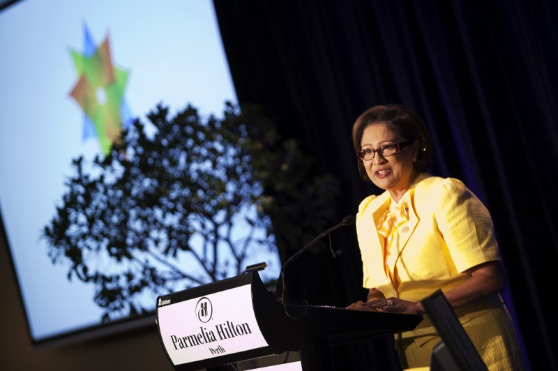 The Hon Kamla Persad Bissessar; photo © Brooke Miles / Commonwealth Foundation, used under a CC BY-NC-ND 2.0 license.