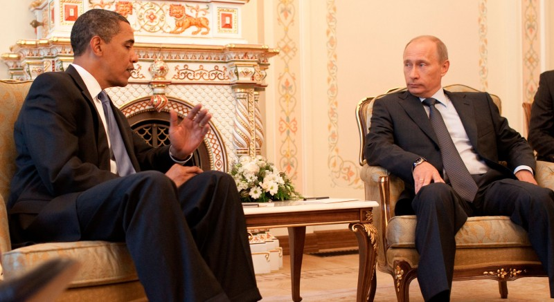 Obama and Putin meet outside Moscow, July 7, 2009. Official White House Photo by Pete Souza.