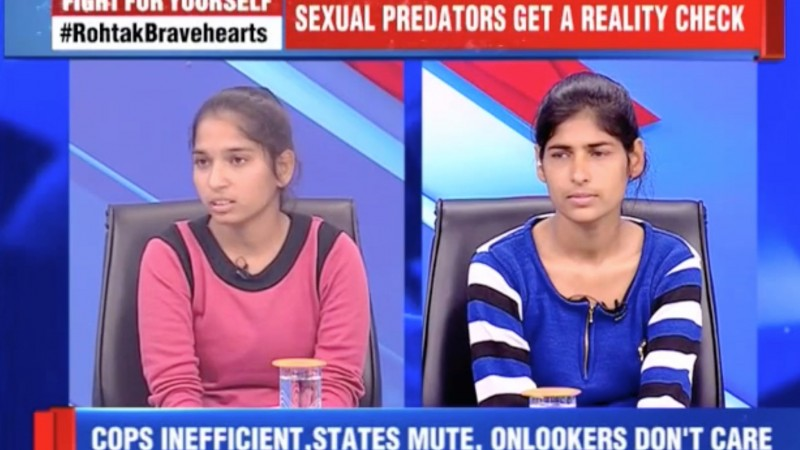Screenshot from an interview of the two brave  girls in Times Now Channel (Click on the image to watch the  interview)