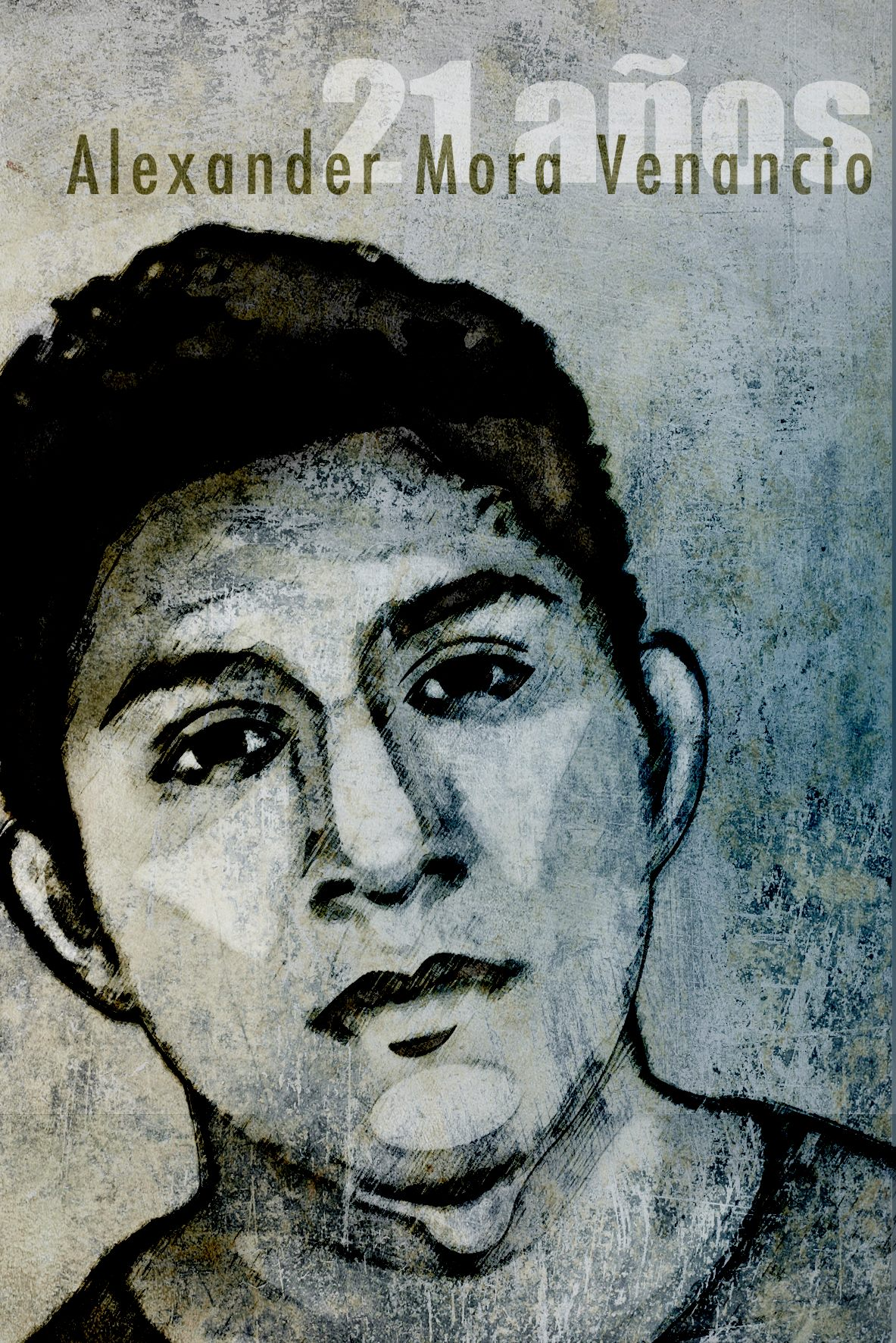 Portrait of Alexander Mora Venancio by Kathia Recio from the movement Ilustrators with Ayotzinapa #IlustradoresConAyotzinapa.