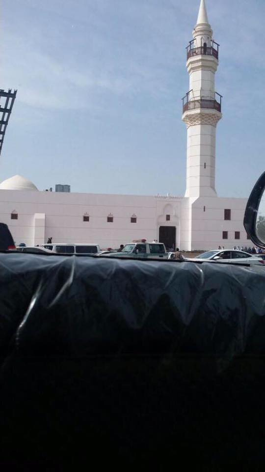 The Jeddah mosque where Badawi was allegedly flogged today. Photograph shared by Kacem El Ghazzali on Facebook