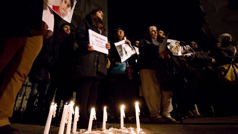 British Pakistanis protested against terrorism, and hosted a vigil outside the Pakistani high commission building in London for the victims of the Peshawar school attack in December 2014. Image by Geovien So. Copyright Demotix (16/1/2015)