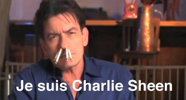 Je suis Charlie Sheen. One of the many memes which surfaced online after the attack on Charlie Hebdo in Paris last week