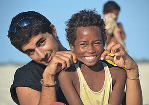 Joey Ayoub with Dafinina in Madagascar with Joey's permission