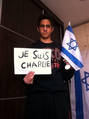 Mohammad Zoabi, #JeSuisCharlie. (Source: Facebook)