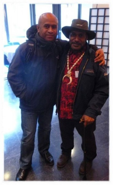 Inggamer (L) with West Papuan independence leader Benny Wenda - image by Inggamer