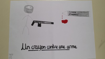 """""""A pencil against a rifle"""""""