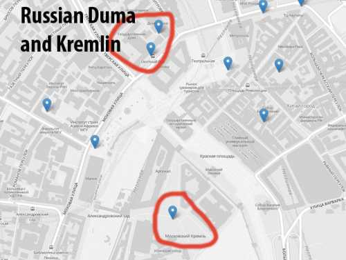 Grindr in the Kremlin, where several active profiles were spotted by a concerned activist. Image from http://americablog.com/.