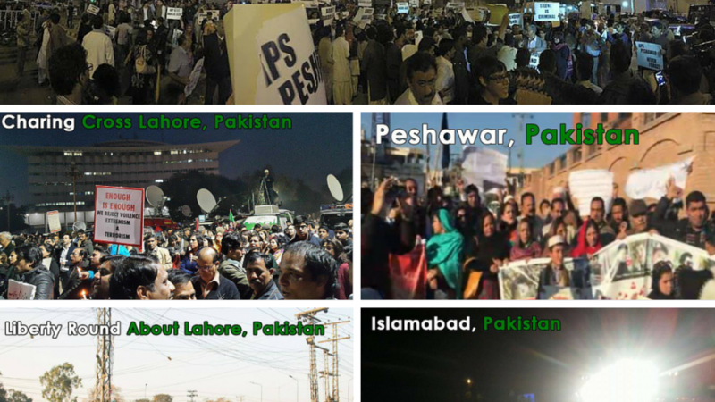 Collage of local protests. Image by Sana Jamal.