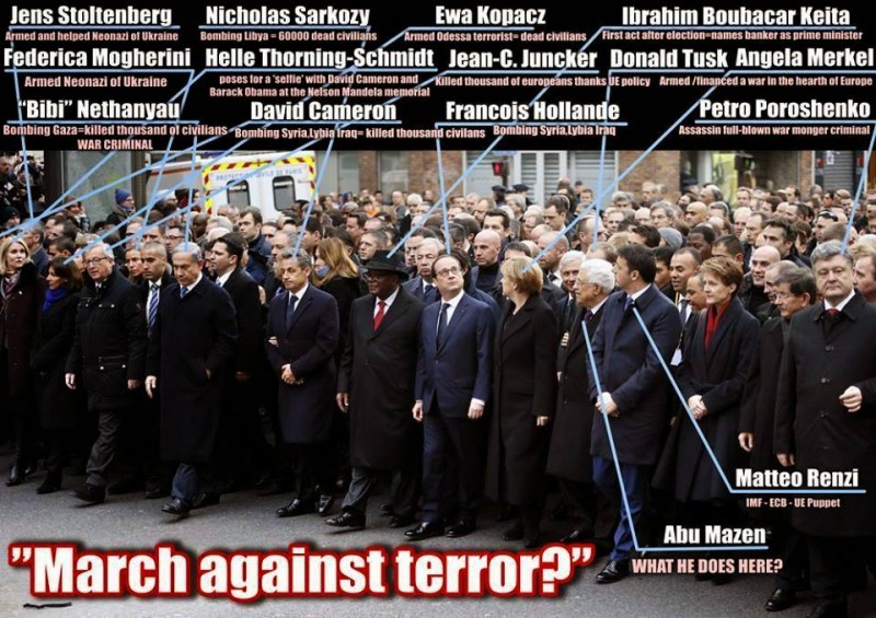 Muhammad Khalid shared this on Facebook. March against Terror?