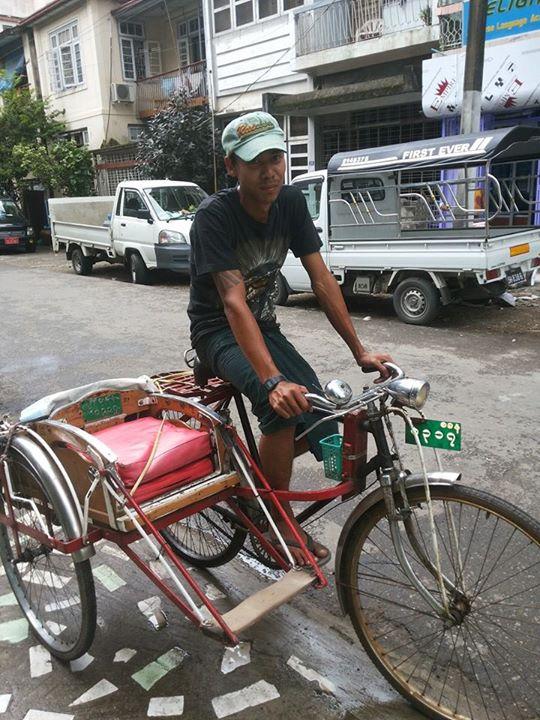 rangoon trishaw driver