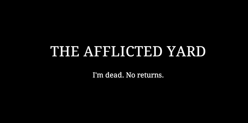 Screenshot of The Afflicted Yard website after Peter Dean Rickards' death on December 31, 2014.
