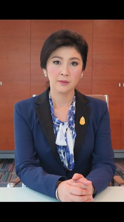 Image from the Facebook page of Yingluck Shinawatra.