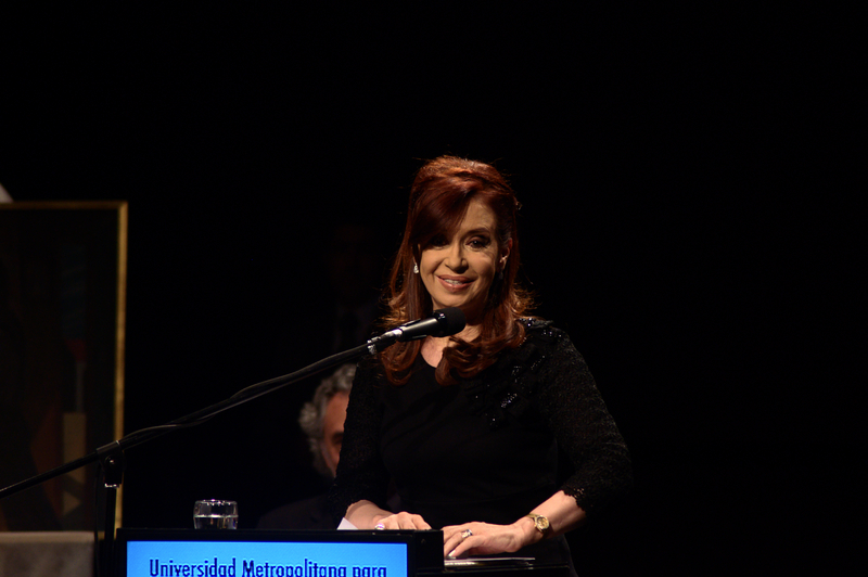 Argentine President Cristina Kirchner in Buenos Aires, May 16, 2013, photo by Filippo Fiorini, Demotix.