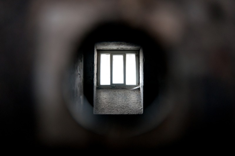 Kilmainham Gaol cell door peephole, Dublin, Ireland. Photo by LenDog64 via Flickr (CC BY-ND 2.0)