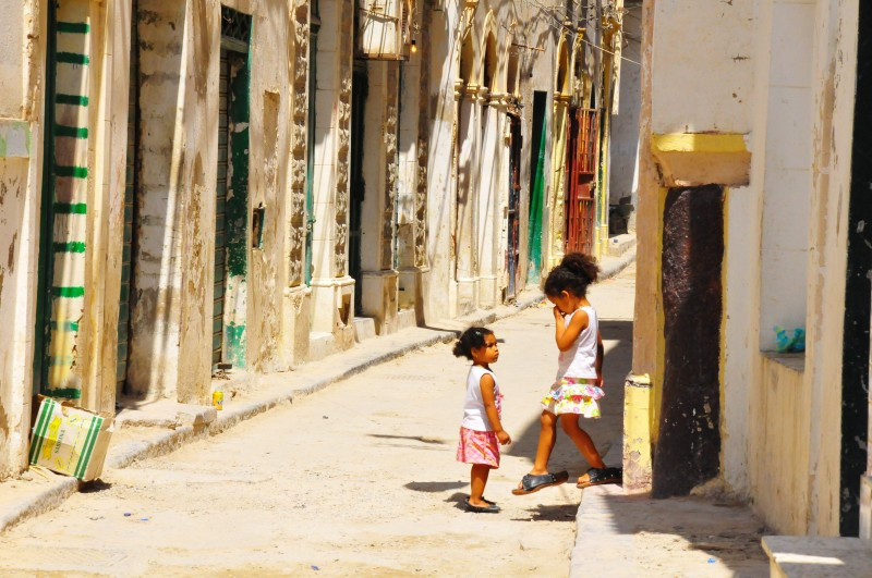 Children in Tripoli in August 2011. Photo by MITSUYOSHI IWASHIGE. Copyright Demotix
