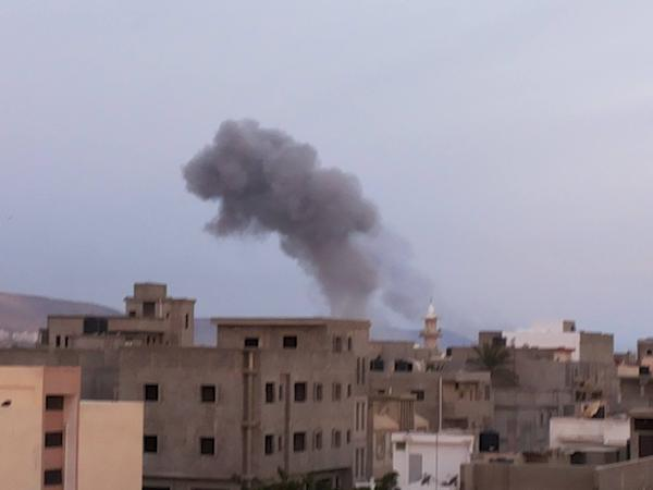 Egypt today bombed sites in Derna, Libya, allegedly belonging to the ISIS. Photo credit: @FreeBenghazi (Twitter)