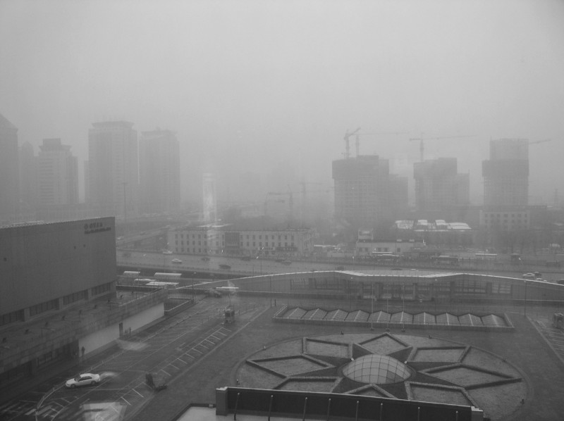 Smog in Beijing. Image from Wikimedia.org (CC: AT)