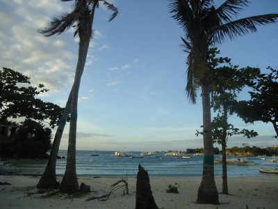 Despite the beauty of the island, one can still see the destructions of the typhoon everywhere. Photo Marie Bohner