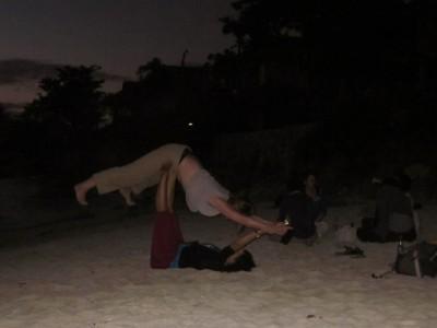 Or practise accro-yoga on the beach if you find a good teacher. Photo Luisa Camara