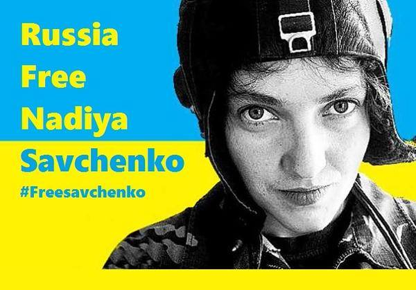 An anonymous image of Nadiya Savchenko circulated online.