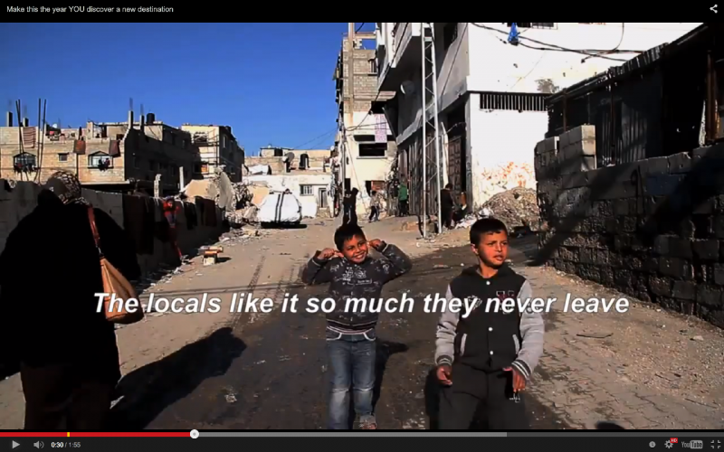 A scene from Banksy's mini-documentary from his visit to Gaza