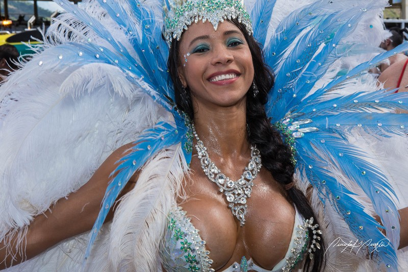 "A ""pretty mas'"" masquerader, Trinidad & Tobago Carnival 2015. Photo by Quinten Questel, used under a CC BY-NC-ND 2.0 license."