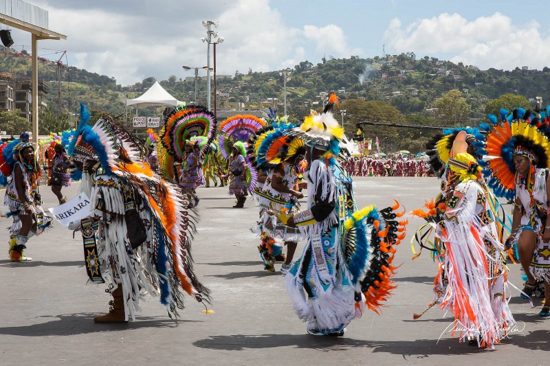 Fancy Indians do their dance; Trinidad & Tobago Carnival 2015. Photo by Quinten Questel, used under a CC BY-NC-ND 2.0 license.