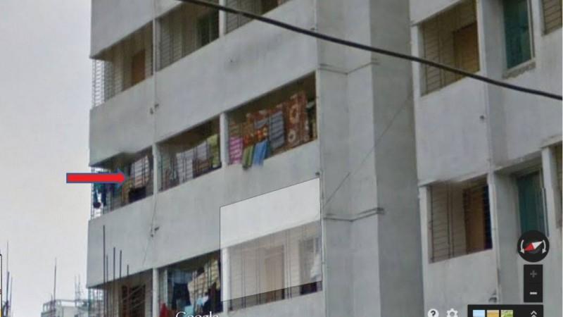 #GoogleStreetView এ নিজের লুঙ্গি দেখে খুবই মজা পাইলাম।।  [Amused to see my Lungi (a Sarong like cloth) in Google Streetview]