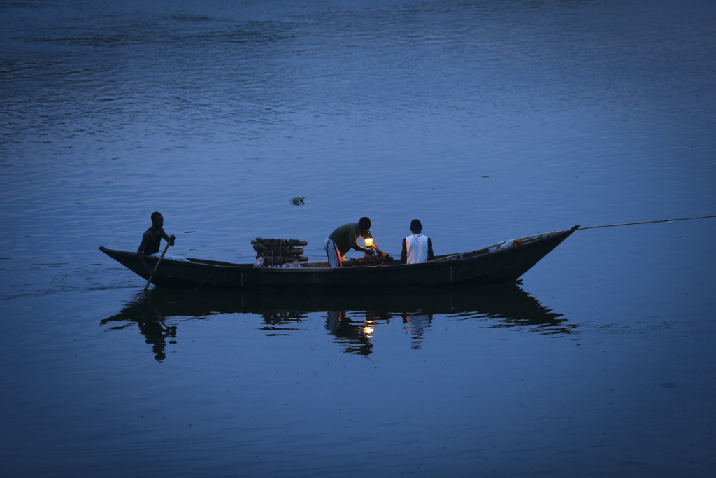 Night fishing with kerosene lamps is common on the shores of Lake Victoria. Photo used with permission.