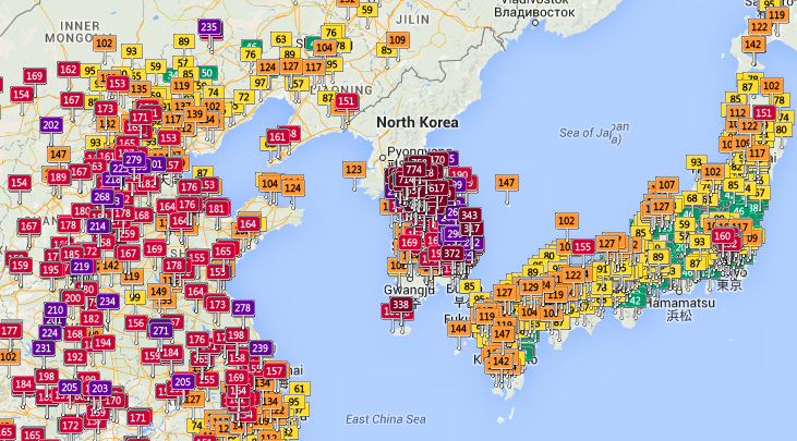 Source: Air Pollution in Asia: Real-time Air Quality Index Visual Map