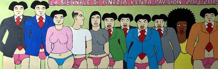 The Shame in Venice. Acrylics mixed media on canvas by Michael Soi. Artwork used with his permission.