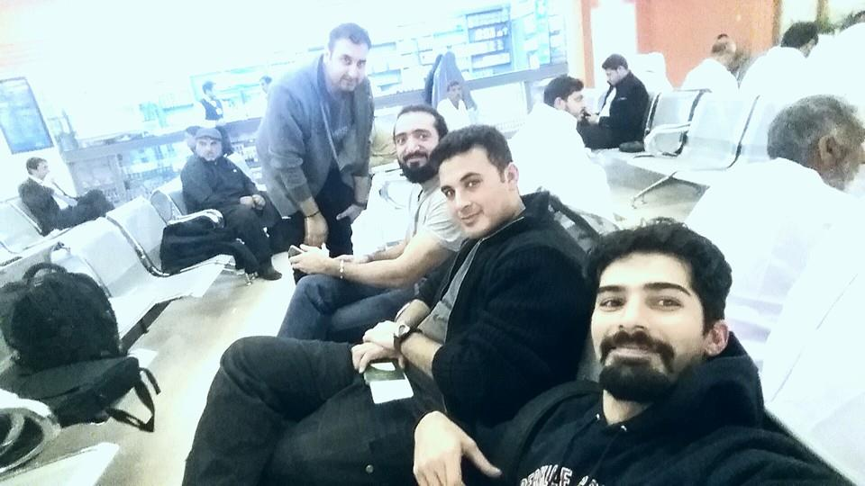 First stop Islamabad Airport. We are off to play at one of the world's biggest music festivals, South by Southwest ‪#‎SXSW‬ in Austin, Texas!. Posted on the Khumariyaan Official Facebook page.