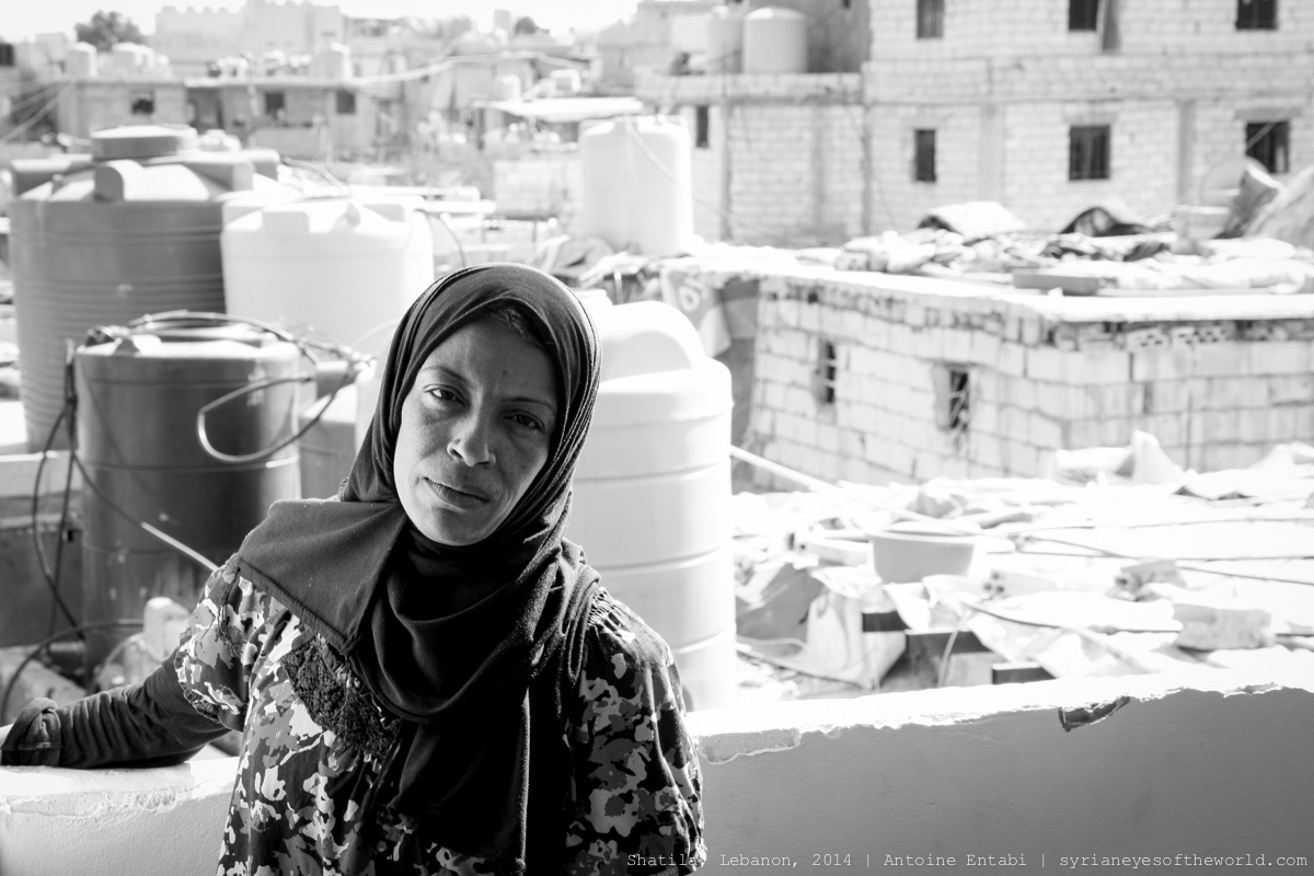 """I care for one thing only: how I'll let my children reach the highest ranks, study and succeed, even at the expense of my labor. I haven't seen a thing of my life, all my life is about work, and I try to be the father and the mother of my children."" – Um Ibrahim. Photo by Antoine Entabi"